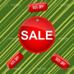 Red Sale and Discount Tags