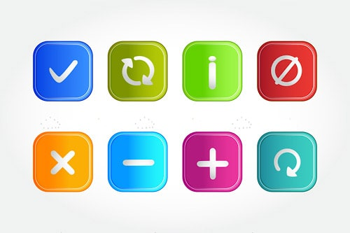 Colorful Symbols Icon Set