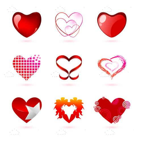 Various Hearts Icon Pack