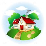 Sweet Countryside Home Illustration