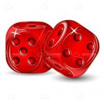 Pair of Illustrated Red Dice