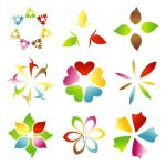 Colorful Abstract Floral Design Set