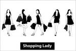 Silhouette Shopping Lady