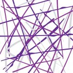 Geometric Background with Purple Lines