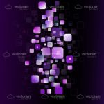 Abstract Purple Cubes Background