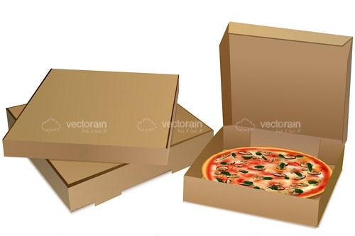 Pizza in Box and Additional Boxes